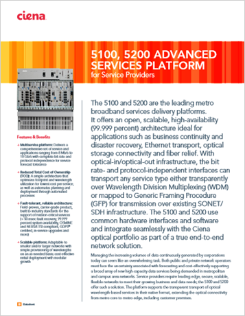 5100/5200 for Service Providers product data sheet