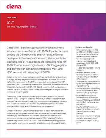 5171 Service Aggregation Switch data sheet thumbnail