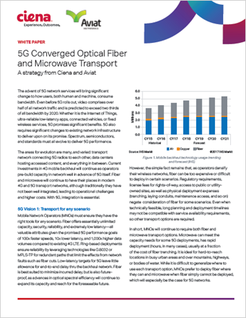 5G Converged Optical Fiber and Microwave Transport White paper