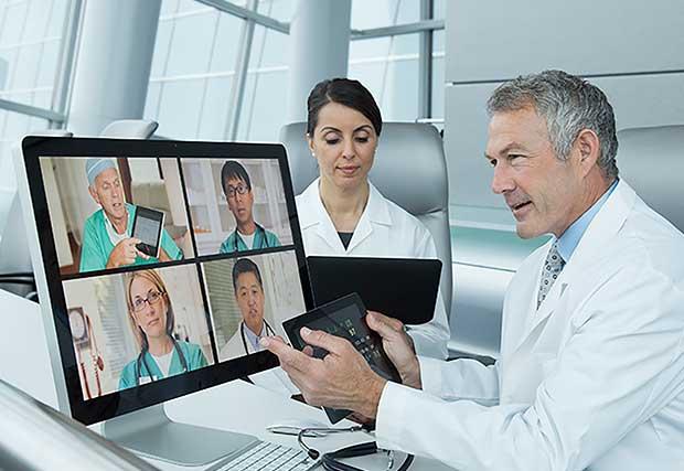 Doctors teleconferencing