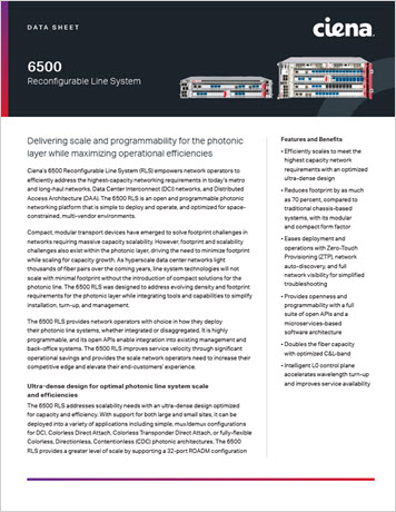 Thumbnail image for the 6500 Reconfigurable Line System datasheet