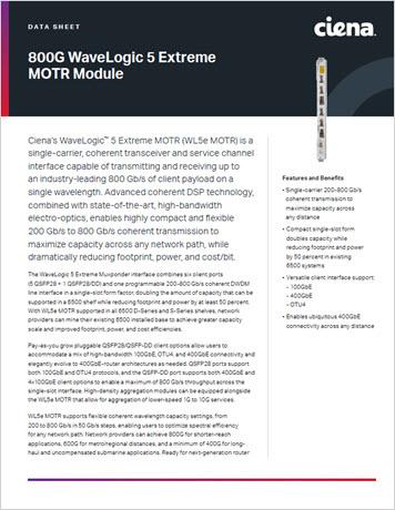 800G WaveLogic 5 Extreme MOTR Module datasheet thumbnail