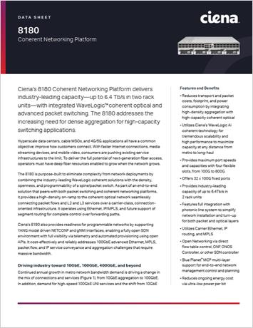 8180 Coherent Networking Platform data sheet thumbnail