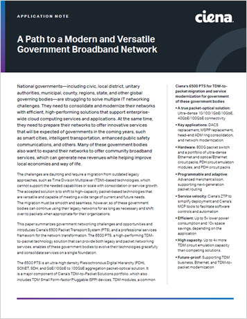 A Path to a Modern and Versatile Government Broadband Network application note thumbnail