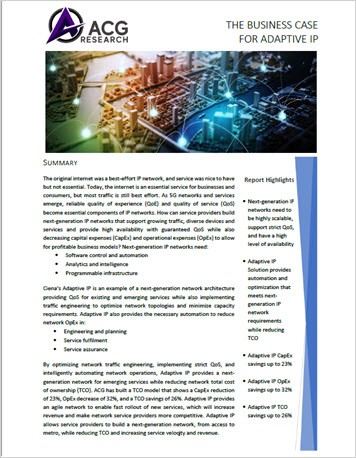 Thumbnail of the first page of the ACG Research Case Study: The Business Case for Adaptive IP