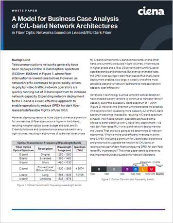 A Model for Business Case Analysis of C/L band Network Architectures whitepaper thumbnail
