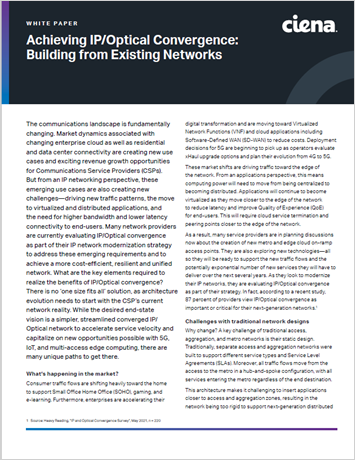 Thumbnail image for Achieving IP/Optical Convergence: Building from Existing Networks whitepaper