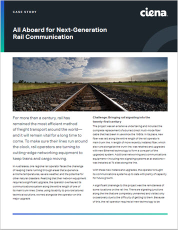 Thumbnail image for the All Aboard for Next-Generation Rail Communication case study