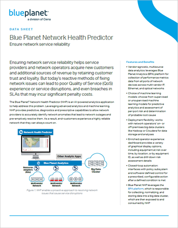 Blue Planet Network Health Predictor