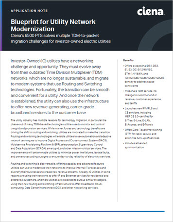 Blueprint for Utility Network Modernization application note preview