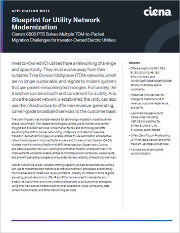 Blueprint for Utility Network Modernization application note