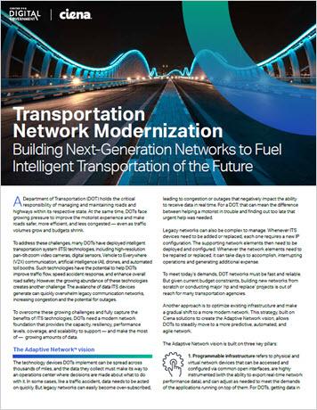 Transportation Network Modernization Infobrief thumbnail