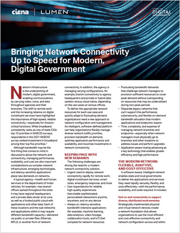 Thumbanil image for Bringing Network Connectivity Up to Speed for Modern, Digital Government infobrief