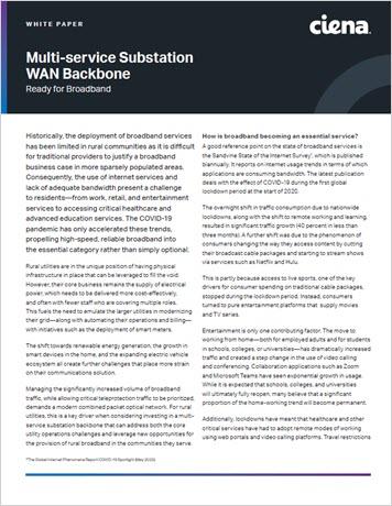 Thumbnail for Multi-service Substation WAN Backbone: Ready for Broadband white paper