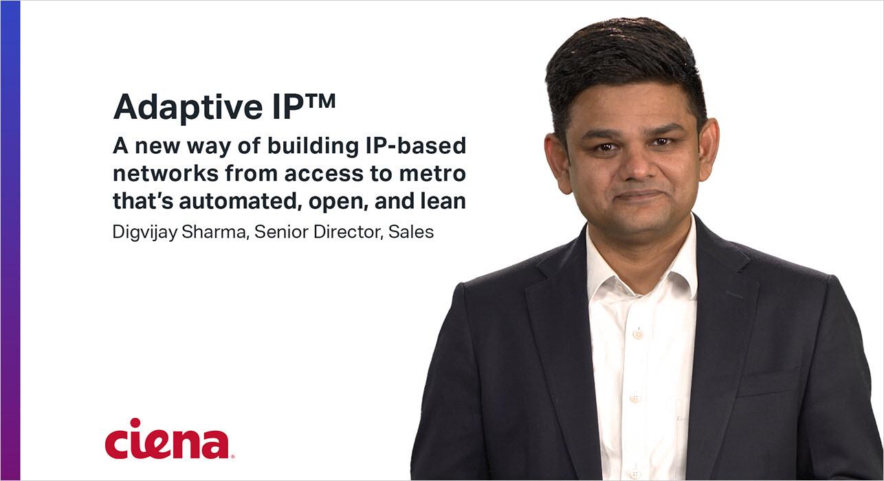 Image of Digvijay Sharma talking about Adaptive IP