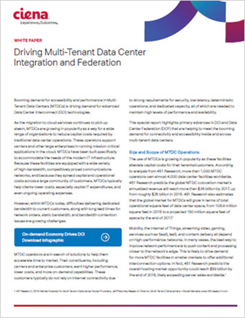 Driving Multi-Tenant Data Center Integration and Federation