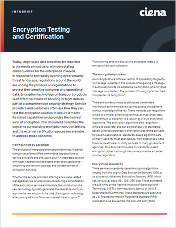 Encryption Testing and Certification infobrief