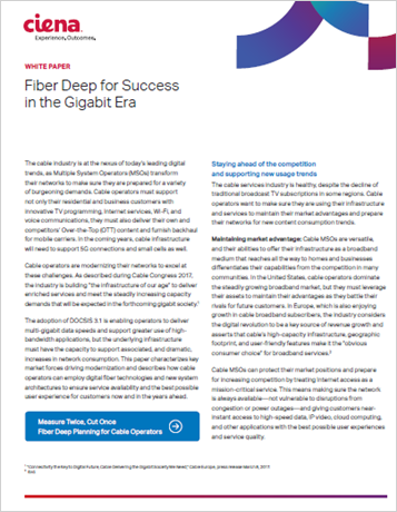 Fiber Deep for Success in the Gigabit Era
