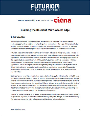 Thumbnail for Fururiom Market Leadership Brief: Building the resilient multi-access edge whitepaper
