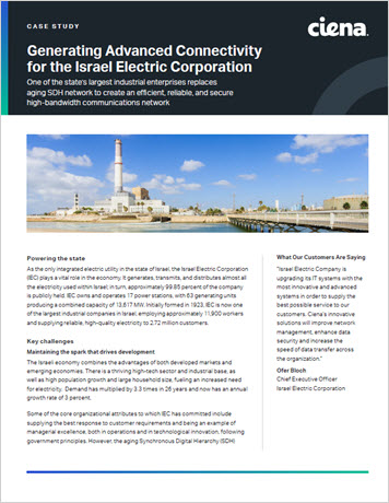 Generating Advanced Connectivity for the Israel Electric Corporation case study thumbnail