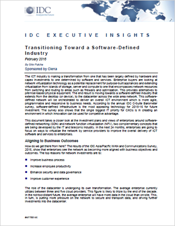 IDC Executive Insights: Transitioning Toward a Software-Defined Industry