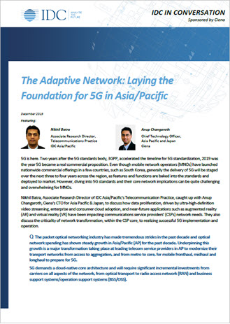 Ciena IDC Laying the Foundation for 5G in APAC brochure