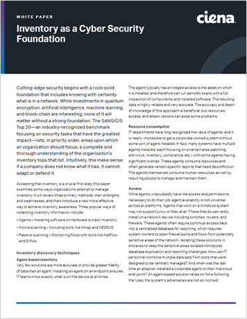 Inventory as a Cyber Security Foundation whitepaper thumbnail