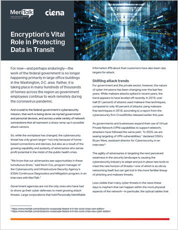 MeriTalk: Encryption's Vital Role in Protecting Data in Transit Infobrief thumbnail