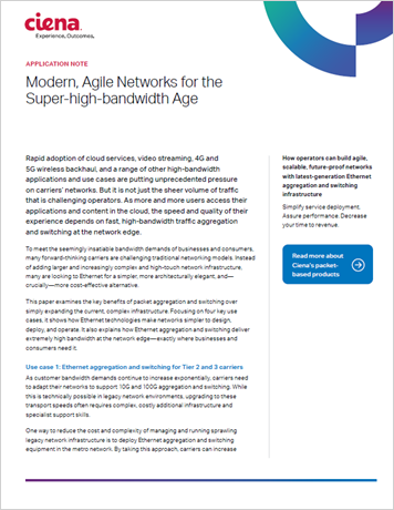 Modern, Agile Networks for the Super high bandwidth Age application note
