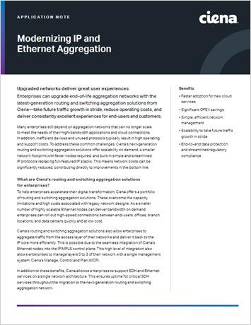 Modernizing IP and Ethernet Aggregation