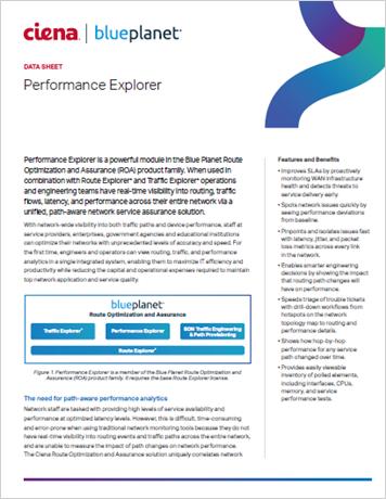 Performance Explorer data sheet