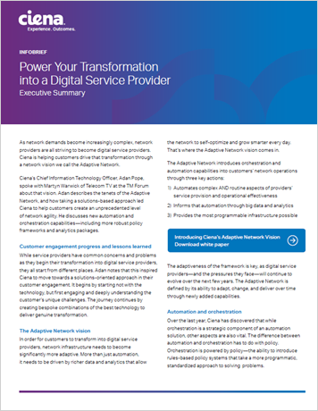 Power Your Transformation into a Digital Service Provider info brief