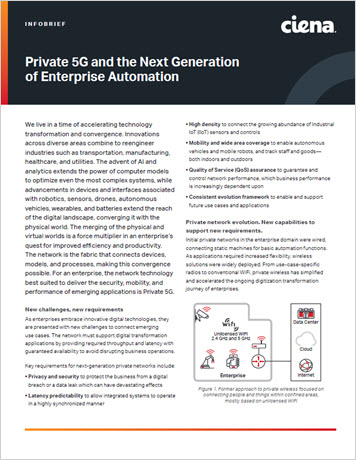 Thumbnail image for Private 5G and the Next Generation of Enterprise Automation info brief