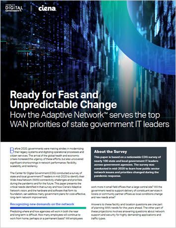 Ready for Fast and Unpredictable Change: How the Adaptive Network serves the top WAN priorities of state government IT leaders WP thumbnail
