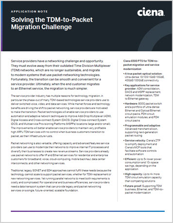 Solving the TDM-to-Packet Migration Challenge application note thumbnail