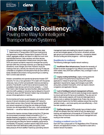 Thumbnail image for the The Road to Resiliency: Paving the Way for Intelligent Transportation Systems infobrief