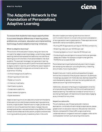 Thumbnail image for the The Adaptive Network Is the Foundation of Personalized, Adaptive Learning white paper