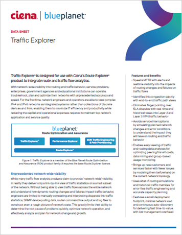 Traffic Explorer data sheet