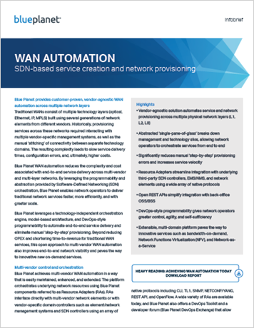 WAN Automation: SDN-based Service Creation and Network Provisioning