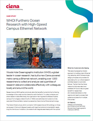 WHOI Furthers Ocean Research with High-Speed Campus Ethernet Network