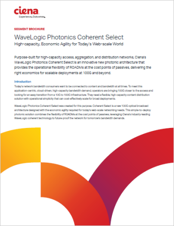 WaveLogic Photonics Coherent Select
