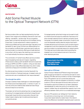 Add Some Packet Muscle to the Optical Transport Network (OTN)