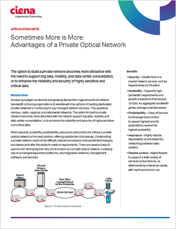 Sometimes More Is More: Advantages of a Private Optical Network
