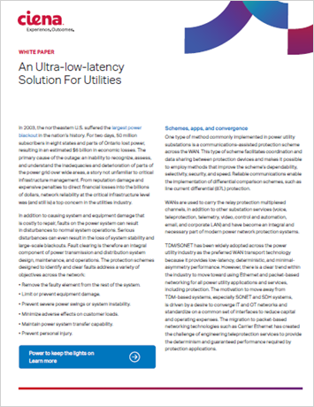 An Ultra-Low-Latency Solution for Utilities