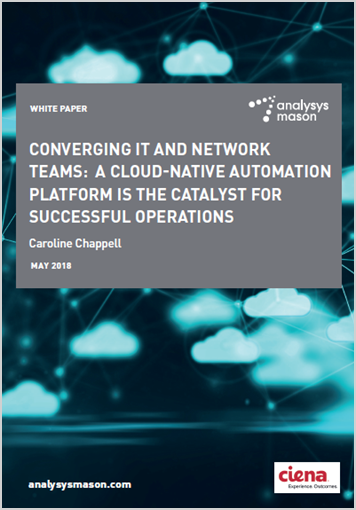 Analysys Mason: Converging IT and Network Teams: A Cloud-native Automation Platform Is the Catalyst for Successful Operations white paper