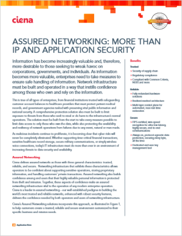Assured Networking: More than IP and Application Security