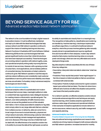 Beyond Service Agility for R&E