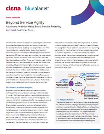 Beyond service agility: Advanced analytics helps boost service reliability and build customer trust