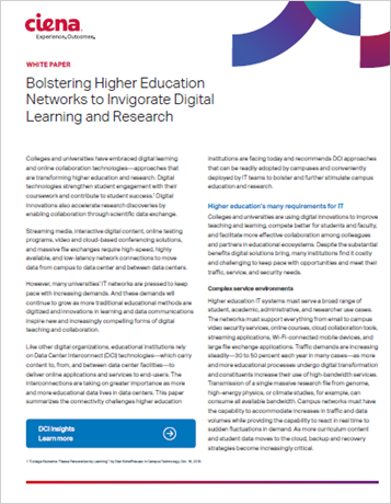 Bolstering Higher Education Networks to Invigorate Digital Learning and Research