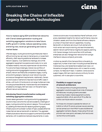 Breaking the Chains of Inflexible Legacy Network Technologies application note thumbnail